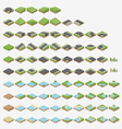 Isometric road tiles vector
