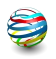Sphere 3d design vector