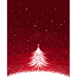 White christmas tree vector