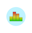 Indicator icon diagram icon vector