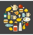 Round food label vector