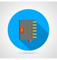 Flat icon for ring organizer vector