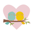 Lovely birds blue and yellow vector