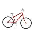 Red bike vector