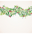Seamless pattern garland with cherry vector