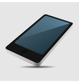 Smartphone 3d view icon in flat style on light vector