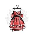 Dress on hangers sketch for your design vector