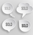 Sold white flat buttons on gray background vector