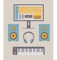 Home music studio vector