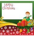 2012 christmas card with boy gifts and socks vector