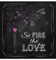 Valentines day poster chalk vector