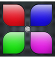 Application buttons template vector