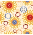 Warm vibrant floral abstract seamless pattern vector