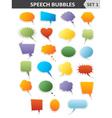 Colorful speech bubbles set 1 vector