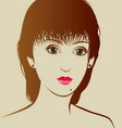 Beautiful girl with beauty hairstyle vector