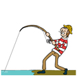 Fishing cartoon vector