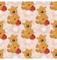 Seamless pattern teddy bear with christmas bag vector