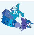 Canadian map vector