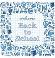 Welcome back to school card vector