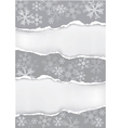 Grey grunge christmas torn paper background vector