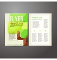 Abstract brochure flyer design with trees vector