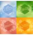 Stylish 4 season cards design vector