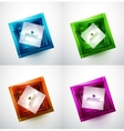 Abstract square vector