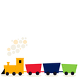 Colorful train in fresh colors isolated on white vector