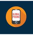 Global phone flat design vector