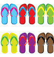 Pairs of flip flops vector