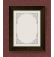 Vintage frame with wooden frame vector