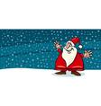 Happy santa claus cartoon card vector