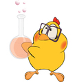 Chicken the chemist cartoon vector