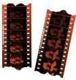 Negative film strips vector