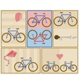 Bicycle postcard set vector