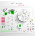 Set of abstract 3d paper infographic elements with vector