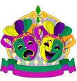 Mardi gras masks design vector