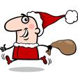 Running santa claus cartoon vector