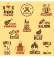 Bbq grill label vector