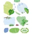 Watercolor spring labels setgreen vector