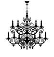 Chandelier silhouette vector