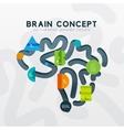 Brain minimal line style infographic banner design vector