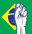 Fist brasil resize vector