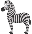 Happy zebra cartoon vector