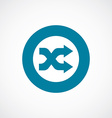 Shuffle icon bold blue circle border vector
