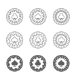 Set of casino gambling chips vector