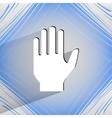 Stop hand flat modern web design on a flat vector