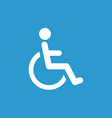 Cripple icon white on the blue background vector