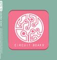 Circuit board sign icon technology scheme symbol vector