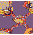 Seamless abstract pattern with elements of fantasy vector